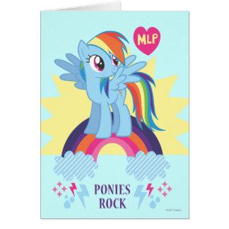 Ponies Rock Greeting Card