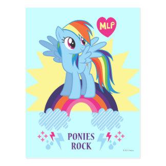 Ponies Rock Post Card