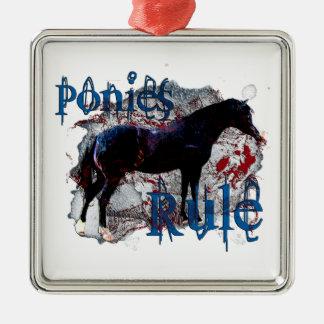 Ponies Rule Metal Ornament