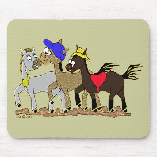 Ponies Three Mousepads