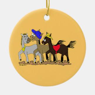 Ponies Three Christmas Ornaments