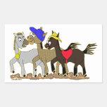 Ponies Three Rectangular Sticker