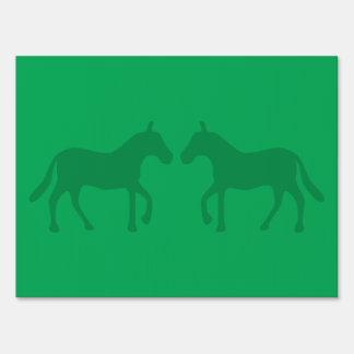 Ponies Yard Sign
