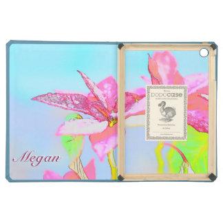 Ponsettia Art & Name Megan Dodo iPad Air. iPad Air Cover