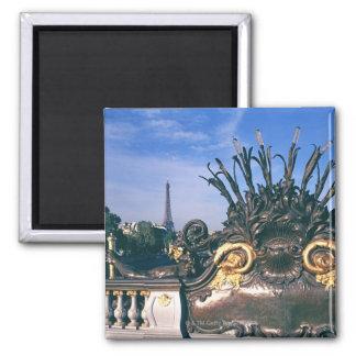 Pont Alexandre III Bridge and Eiffel Tower. Magnet