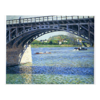 Pont d'Argenteuil by Gustave Caillebotte Postcard