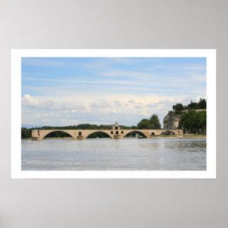 Pont d'Avignon Bridge Poster