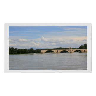 Pont d'Avignon from Barthelasse Poster
