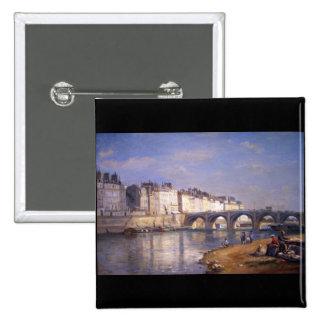Pont de la Tournelle, Paris by Stanislas Lepine Buttons