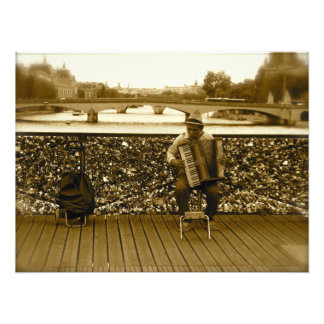 Pont de l'Archeveche: The Love Lock Bridge, Paris Photograph