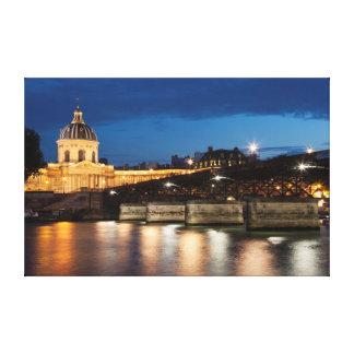 Pont DES arts and institut of France, Paris Canvas Print