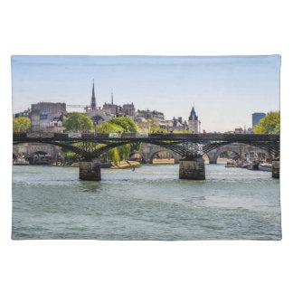 Pont Des Arts in Paris, France Cloth Placemat