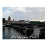 Pont des Arts, París Postal