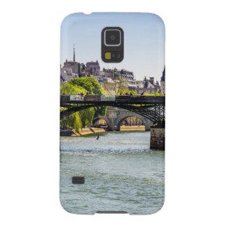 Pont des Arts, río el Sena en París, Francia Funda Para Galaxy S5