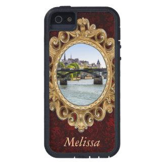Pont des Arts, río el Sena en París, Francia Funda Para iPhone SE/5/5s