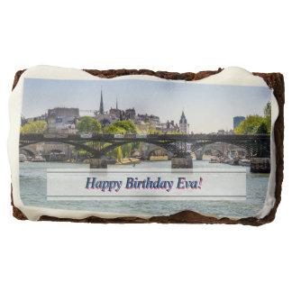 Pont Des Arts, River Seine in Paris, France Brownie