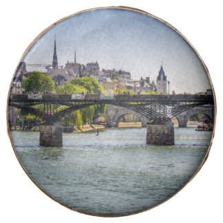 Pont Des Arts, River Seine in Paris, France Chocolate Dipped Oreo