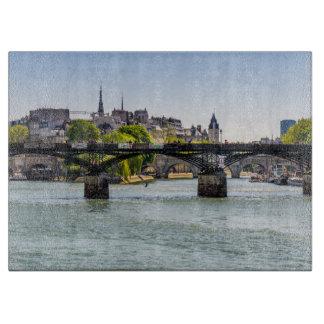 Pont Des Arts, River Seine in Paris, France Cutting Board
