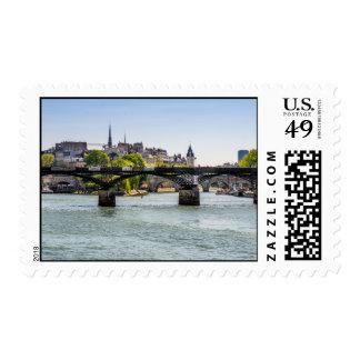 Pont Des Arts, River Seine in Paris, France Postage