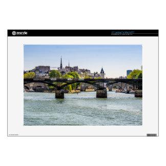 "Pont Des Arts, River Seine in Paris, France Skin For 15"" Laptop"