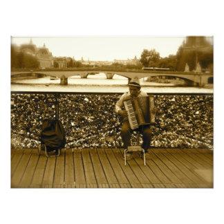 Pont des Arts: The Love Lock Bridge, Paris Photo Print