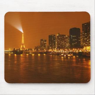 Pont Mirabeau Paris France Night Skyline Panorama Mousepad