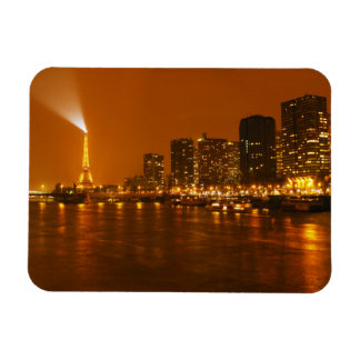 Pont Mirabeau Paris France Night Skyline Panorama Flexible Magnets
