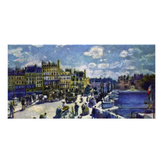 Pont-Neuf By Pierre-Auguste Renoir (Best Quality) Photo Greeting Card