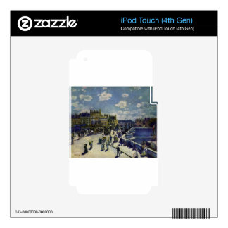 Pont Neuf by Pierre-Auguste Renoir iPod Touch 4G Skins