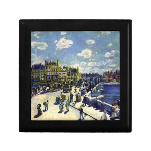 Pont-Neuf by Pierre Renoir Trinket Boxes