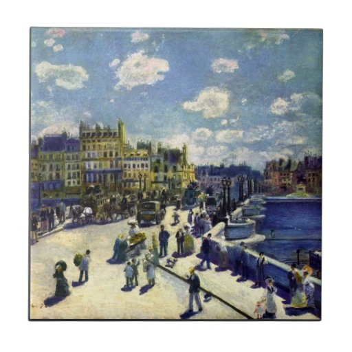 Pont-Neuf by Pierre Renoir Ceramic Tiles