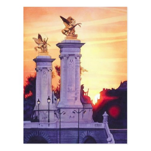 """Pont Neuf Est"" France Watercolor Post Card"