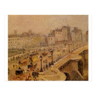 Pont Neuf Fog by Camille Pissarro Postcard