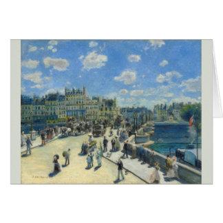 Pont Neuf, Paris by Pierre-Auguste Renoir Card