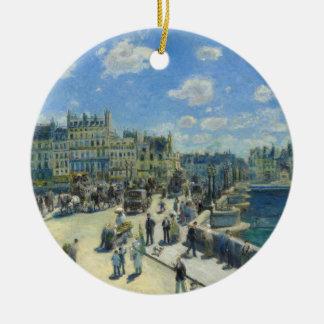Pont Neuf Paris by Pierre-Auguste Renoir Ceramic Ornament