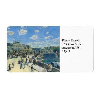 Pont Neuf Paris by Pierre-Auguste Renoir Shipping Label
