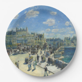 Pont Neuf Paris by Pierre-Auguste Renoir Paper Plate