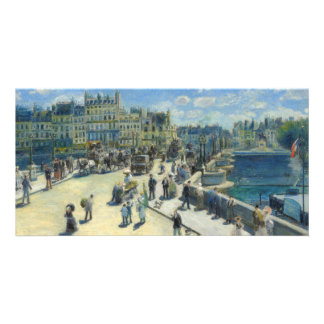 Pont Neuf Paris by Pierre-Auguste Renoir Customized Photo Card