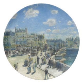 Pont Neuf Paris by Pierre-Auguste Renoir Plate