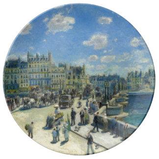 Pont Neuf Paris by Pierre-Auguste Renoir Porcelain Plate
