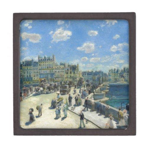 Pont Neuf Paris by Pierre-Auguste Renoir Premium Trinket Box