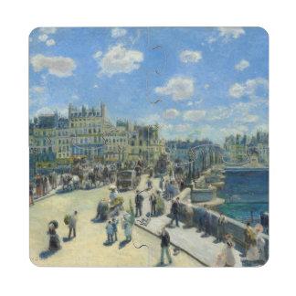 Pont Neuf Paris by Pierre-Auguste Renoir Puzzle Coaster