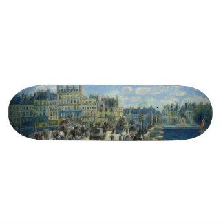 Pont Neuf Paris by Pierre-Auguste Renoir Skateboard