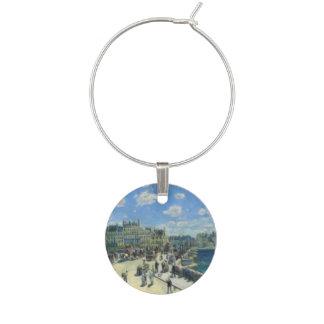 Pont Neuf Paris by Pierre-Auguste Renoir Wine Charm