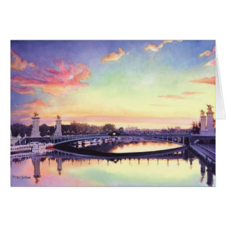 """Pont Neuf Paris"" France Watercolor Art Card"