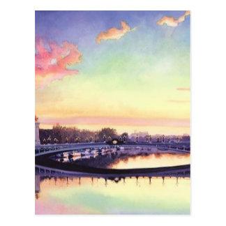"""""""Pont Neuf Paris"""" France Watercolor Art Postcard"""
