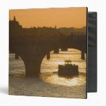 Pont Neuf, Seine, sunset, Paris, FranceMusee 3 Ring Binder