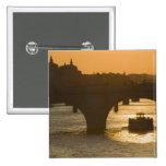 Pont Neuf, Seine, sunset, Paris, FranceMusee 2 Inch Square Button