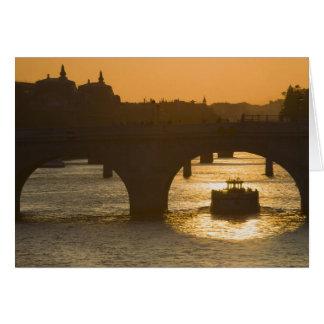 Pont Neuf, Seine, sunset, Paris, FranceMusee Card