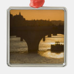 Pont Neuf, Seine, sunset, Paris, FranceMusee Christmas Ornaments